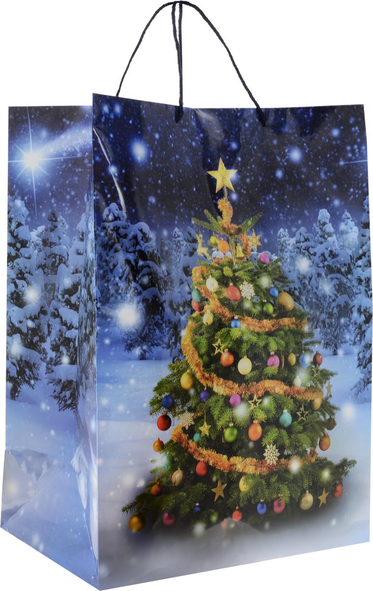 Пакет подарочный МегаМАГ Елка, ламинированный, цвет: синий, 41 х 56 х 24 см. 919/920 XXL919/920 XXL_синий, елкаПакет подарочный ламинированный. Ручки-шнурки. Размер: 410 x 560 x 240 мм.