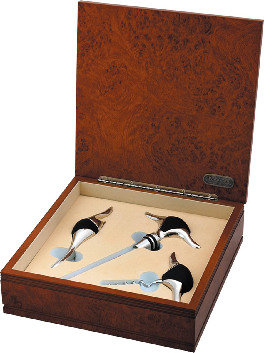 Набор винный Woodmax, 3 предмета. G713G713Винный набор состоящий из 3х предметов: штопор, открывалка, термометр для измерения температуры вина