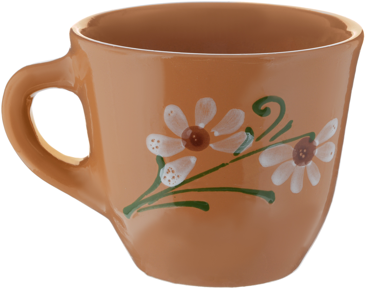 Чашка Борисовская керамика Стандарт, цвет: оранжевый, 300 млОБЧ00000628_оранжевыйУдобная чашка Борисовская керамика Стандартпредназначена для повседневного использования. Онавыполнена из высококачественной керамики. Природныесвойства этого материала позволяют долго сохранятьтемпературу напитка, даже, если вы пьете что-то холодное.Внешние стенки чашки оформлены изображением цветка. Диаметр чашки (по верхнему краю): 10 см. Диаметр основания: 5,5 см. Высота чашки: 8,5 см.
