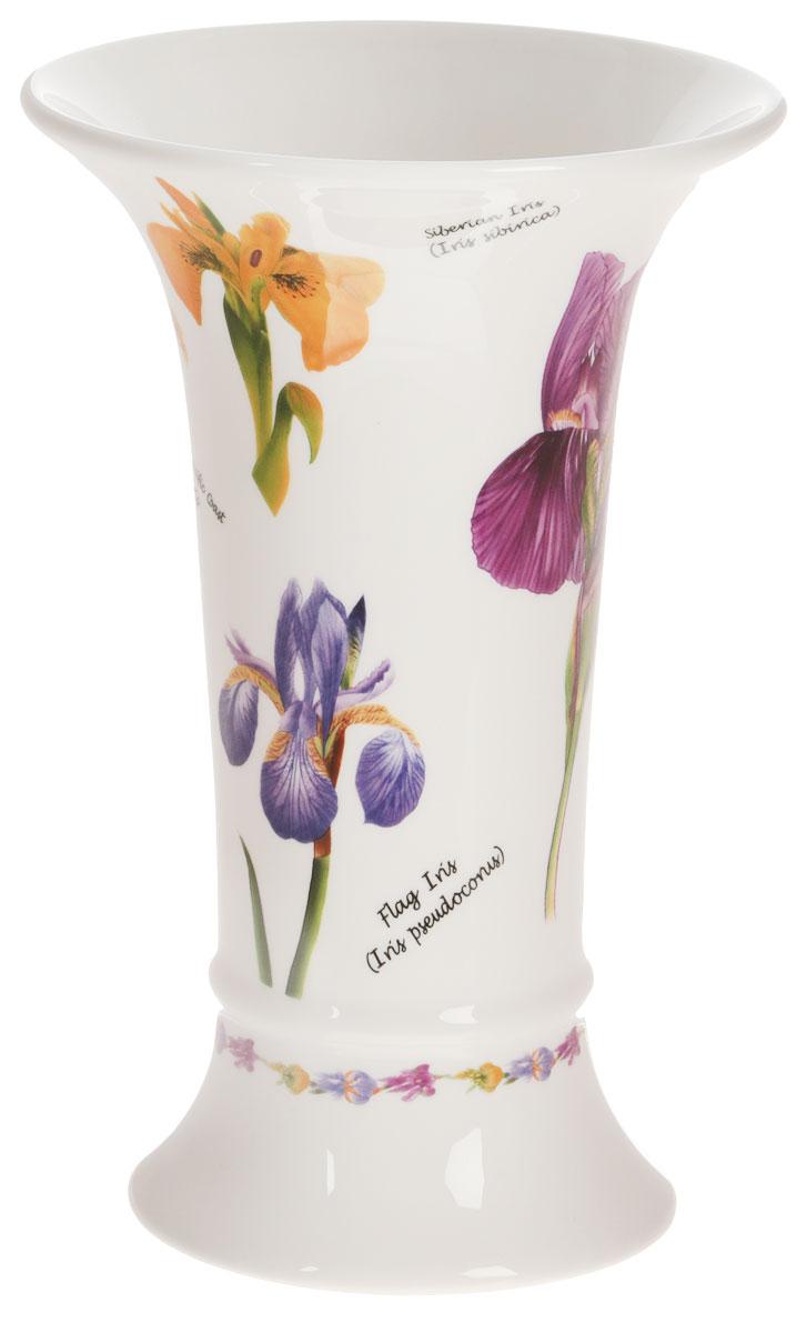 Ваза для цветов Букингем. Ирисы, высота 21,5 смIM65078-A218AL_ирисыВаза для цветов Букингем. Ирисы, выполненная из высококачественной керамики белого цвета, станет отличным дополнением к интерьеру вашего дома. Ваза имеет оригинальную форму и украшена красочным рисунком с изображением цветов. Элегантная ваза станет не просто сосудом для цветов, но и оригинальным сувениром, который радует глаз и создает настроение.Окружая себя красивыми вещами, вы создаете в своем доме атмосферу гармонии, тепла и комфорта. Характеристики:Высота вазы:21,5 см. Диаметр вазы по верхнему краю: 14 см. Диаметр основания вазы:10 см. Размер упаковки:14 см х 22 см х 14 смИзделия торговой марки Imari произведены из высококачественной керамики, основным ингредиентом которой является твердый доломит, поэтому все керамические изделия Imari - легкие, белоснежные, прочные и устойчивы к высоким температурам. Высокое качество изделий достигается не только благодаря использованию особого сырья и новейших технологий и оборудования при изготовлении посуды, но также благодаря строгому контролю на всех этапах производственного процесса. Нанесение сверкающей глазури, не содержащей свинца, придает изделиям Imari превосходный блеск и особую прочность.Красочные и нежные современные декоры Imari - это результат профессиональной работы дизайнеров, которые ежегодно обновляют ассортимент и предлагают покупателям десятки новый декоров. Свою популярность торговая марка Imari завоевала благодаря высокому качеству изделий, стильным современным дизайнам, широчайшему ассортименту продукции, прекрасным подарочным упаковкам и низким ценам. Все эти качества изделий сделали их безусловным лидером на рынке керамической посуды.