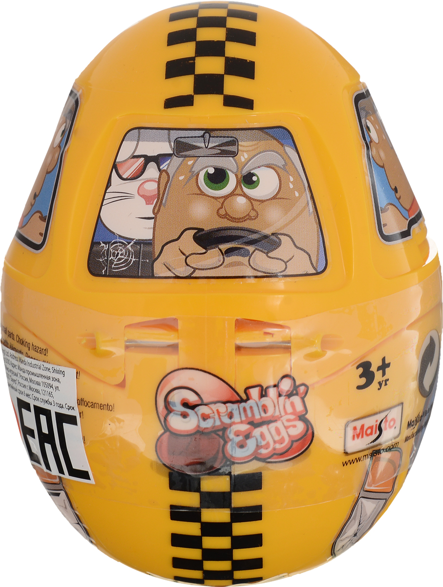 Maisto Машинка Scramblin' Eggs цвет желтый игрушка maisto 1957 chevrolet bel air 81302