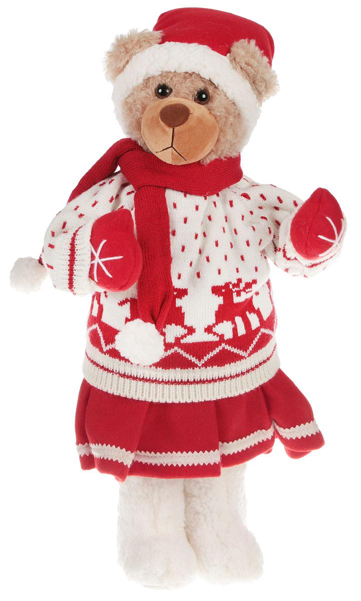 Фигурка новогодняя Estro, цвет: белый, коричневый, высота 55 см. C21-221036C21-221036_белый, коричневыйДекоративная фигурка Estro изготовлена из высококачественных материалов в оригинальном стиле. Фигурка выполнена в виде медведя в зимней одежде. Уютная и милая интерьерная игрушка предназначена для взрослых и детей, для игр и украшения новогодней елки, да и просто, для создания праздничной атмосферы в интерьере!Фигурка прекрасно украсит ваш дом к празднику, а в остальные дни с ней с удовольствием будут играть дети. Оригинальный дизайн и красочное исполнение создадут праздничное настроение.Фигурка создана вручную, неповторима и оригинальна.Порадуйте своих друзей и близких этим замечательным подарком!Для детей от 3 лет и старше.