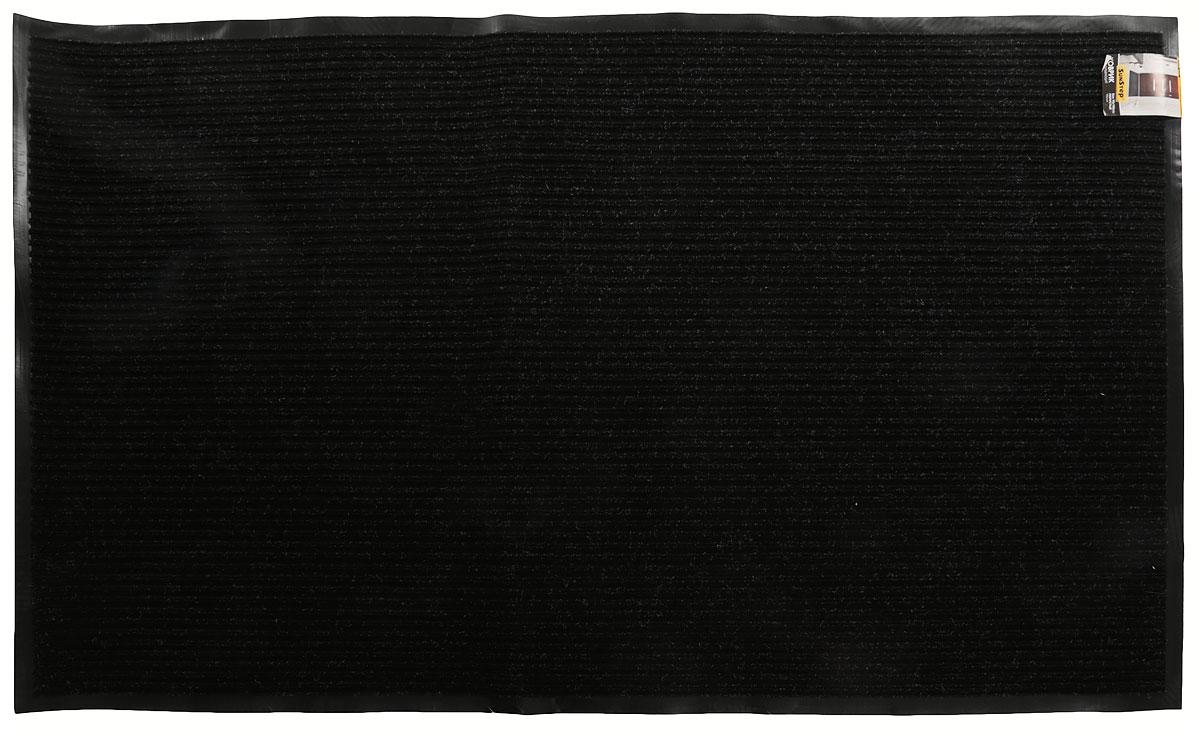 Коврик влаговпитывающий SunStep Ребристый, цвет: черный, 90 х 150 см35-072_черныйВлаговпитывающий придверный коврик SunStep Ребристый выполнен из высококачественныхполимерных материалов.Он прост в обслуживании, прочный и устойчивый к различным погодным условиям. Лицеваясторона коврика мягкая. Прорезиненная основа предотвращает его скольжение по гладкойповерхности и обеспечивает надежную фиксацию.Такой коврик надежно защитит помещение от уличной пыли и грязи.