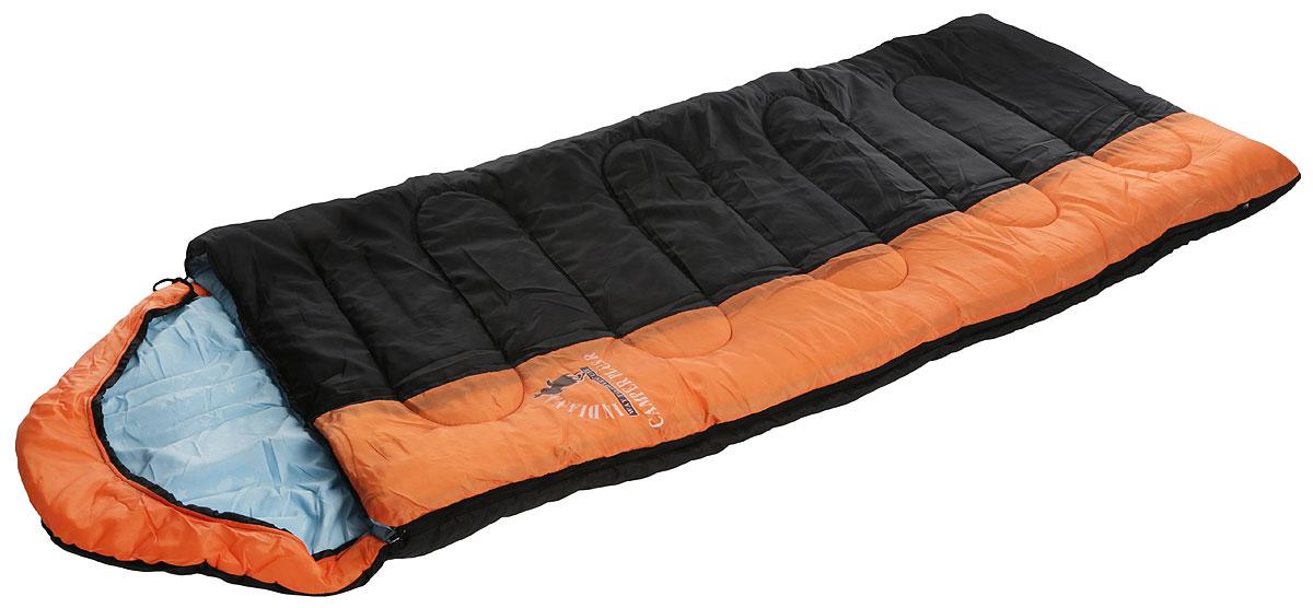 Спальный мешок Indiana Camper Plus, правая молния, цвет: черный, оранжевый, голубой, 195 х 35 х 90 см360700041_черный, серый, голубойУдобный спальник-одеяло Camper Plus с капюшоном-подголовником и правой молнией пригодится в походе или путешествии. Спальный мешок имеет три слоя: полиэстер, файбер и поликоттон. Модель выпускается как с левой, так и с правой молнией. Благодаря этому два спальника этой модели можно состегивать друг с другом. Увеличенные размеры спального мешка и его температурные режимы обеспечат вам комфортный отдых во время вашего пребывания на природе. Можно использовать при температуре от +15С до -12С.Полная длина: 230 см. Размер в сложенном виде без учета капюшона: 195 х 35 х 90 см.