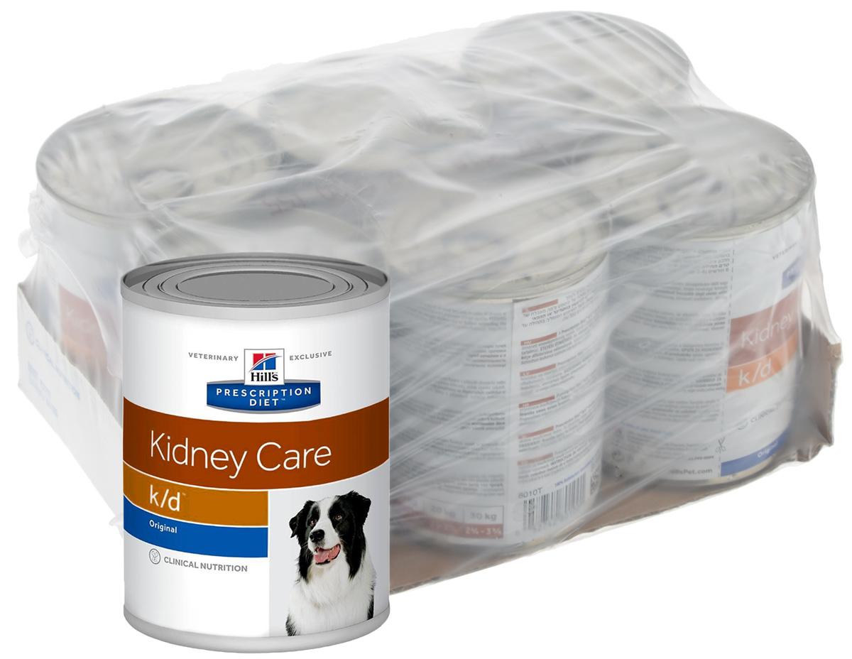 Консервы для собак Hills K/D, диетические, для лечения заболеваний почек, 370 г х 6 шт8010Консервы для собак Hills K/D - полноценный диетический рацион для собак. Поддерживает функции почек при хронической или острой почечной недостаточности. Содержит пониженный уровень фосфора и оптимальный уровень протеинов высокой биологической ценности.Ингредиенты: кукурузный крахмал, свиная печень, животный жир, сахароза, семя льна, сухой яичный белок, сухая сыворотка, гидролизат белка, кальция карбонат, карамель, кальция сульфат, калия хлорид, магния оксид, йодированная соль, витамины и микроэлементы.Среднее содержание нутриентов: бета-каротин 0,45 мг/кг, витамин А 10000 МЕ/кг, витамин D 490 МЕ/кг, витамин Е 165 мг/кг, витамин С 21 мг/кг, влага 70,3%, жиры 7,9%, калий 0,11%, кальций 0,23%, клетчатка 0,1%, магний 0,04%, натрий 0,05%, омега-3 жирные кислоты 0,57%, омега-6 жирные кислоты 1,29%, протеин 4,5%, таурин 0,03%, углеводы 16,1%, фосфор 0,07%.Вес: 370 г.Товар сертифицирован.Уважаемые клиенты! Обращаем ваше внимание на возможные изменения в дизайне упаковки. Качественные характеристики товара остаются неизменными. Поставка осуществляется в зависимости от наличия на складе.Чем кормить пожилых собак: советы ветеринара. Статья OZON Гид