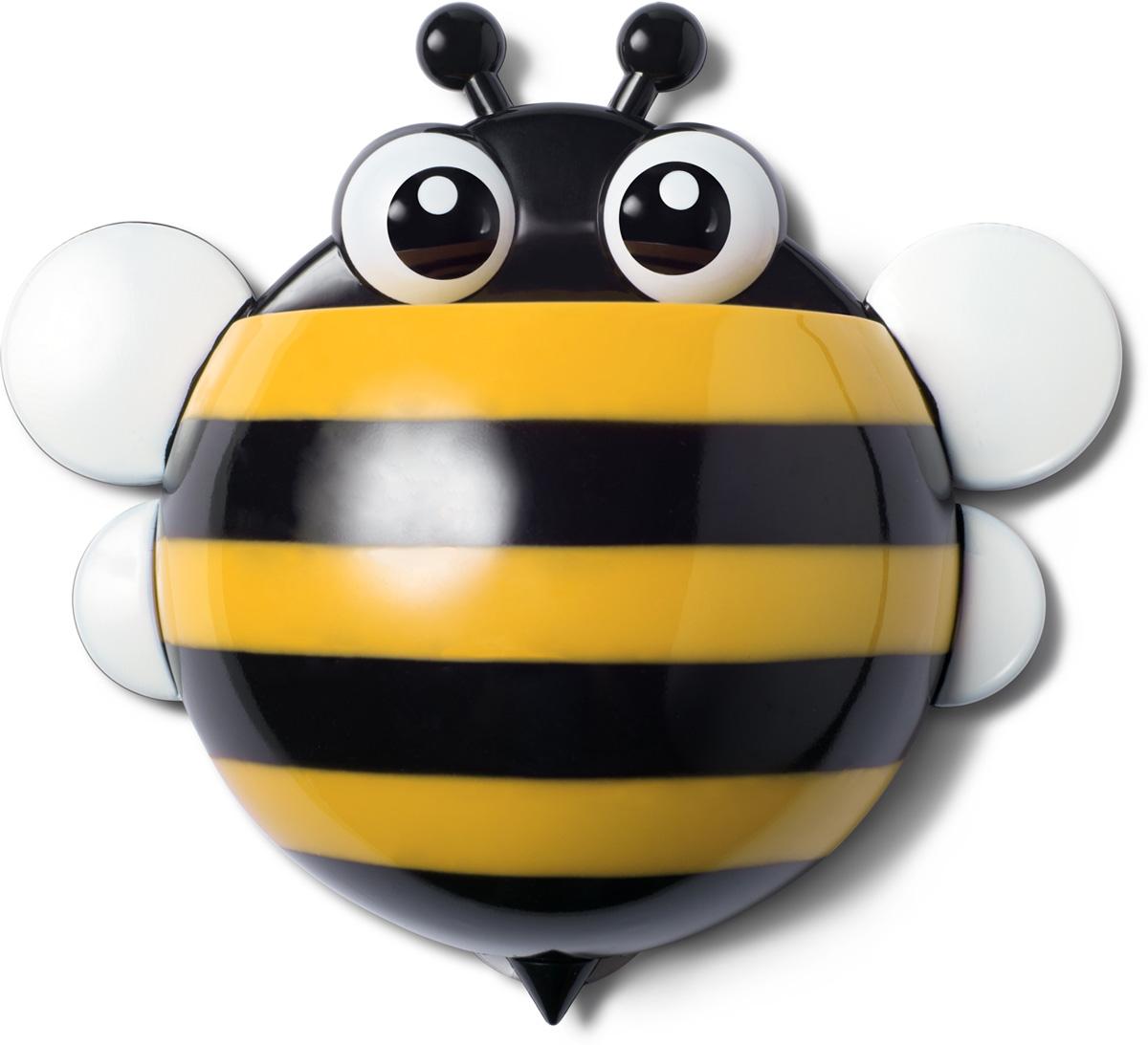 Держатель для зубных щеток Ruges Пчелка, цвет: желтыйV-17Держатель для зубных щеток Ruges Пчелка на стену или мебель на присосках – проще простого. Надоест – сняли безо всяко ущерба. А пока не надоел - очень славная дружественная мелочь, которая поживет у вас в ванной. Можно дать Пчелка имя. Дети будут в восторге, тем более что Держатель Пчелка легко прикрепить удобно для роста ребенка – сам будет брать свои щетку и пасту. И не только дети обрадуются. Взрослый, у которого очень стильная ванная, но ему скучно по утрам чистить зубы в одиночестве, тоже будет рад. Не признается, но рад будет! Размеры: 17 х 15 х 5 см; Вес: 50 г; Материал: пластик, ПВХ, силикон. Комплектация: держатель 1 шт, присоски для крепления - 3 шт.