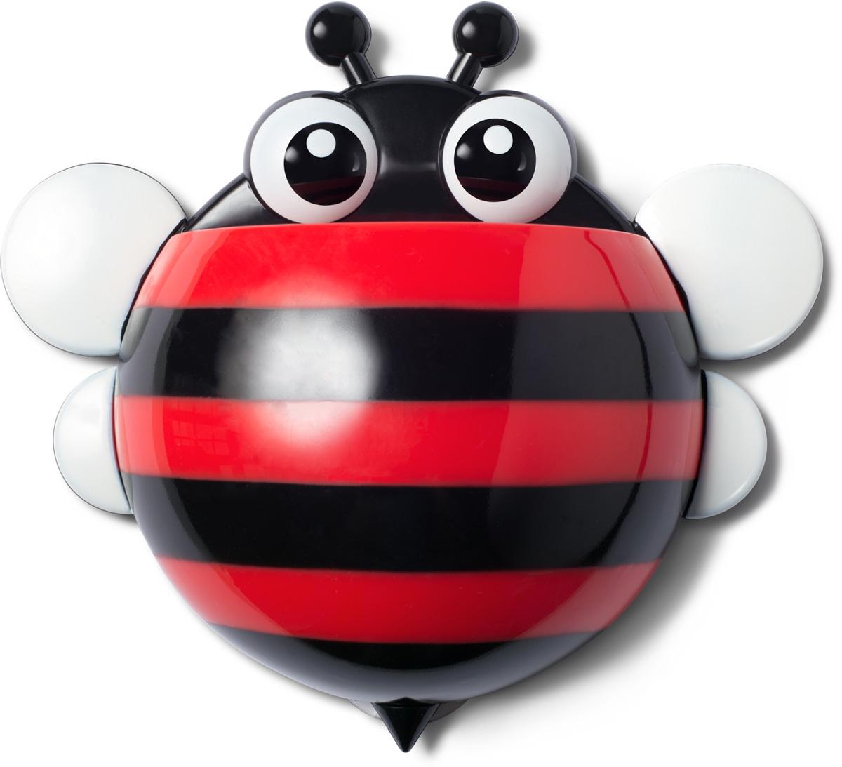 """Держатель для зубных щеток Ruges """"Пчелка"""" на стену или мебель на присосках - проще простого. Надоест - сняли безо всякого ущерба.  А пока не надоел - очень славная дружественная мелочь поживет у вас в ванной.  Дети будут в восторге, так как держатель """"Пчелка"""" легко прикрепить на удобном для ребенка уровне - сам будет брать свои щетку и пасту.   И не только дети обрадуются. Взрослый, у которого очень стильная ванная, но ему скучно по утрам чистить зубы в одиночестве, тоже будет рад.  Не признается, но рад будет!  В комплекте: 1 держатель, 3 присоски для крепления."""