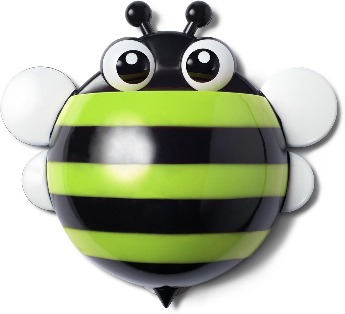 Держатель для зубных щеток Ruges Пчелка, цвет: зеленыйV-19Держатель для зубных щеток Ruges Пчелка на стену или мебель на присосках - проще простого. Надоест - сняли безо всякого ущерба.А пока не надоел - очень славная дружественная мелочь поживет у вас в ванной.Дети будут в восторге, так как держатель Пчелка легко прикрепить на удобном для ребенка уровне - сам будет брать свои щетку и пасту. И не только дети обрадуются. Взрослый, у которого очень стильная ванная, но ему скучно по утрам чистить зубы в одиночестве, тоже будет рад.Не признается, но рад будет!В комплекте: 1 держатель, 3 присоски для крепления.