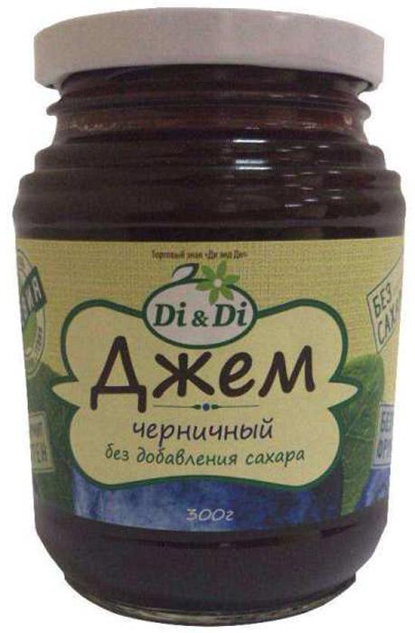 Di & Di Джем черничный, 300 г mr djemius zero низкокалорийный джем манго 270 г