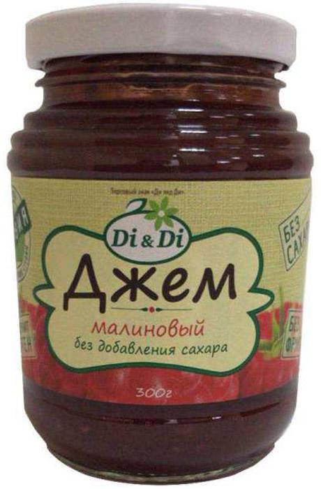 Di & Di Джем малиновый, 300 г mr djemius zero низкокалорийный джем манго 270 г