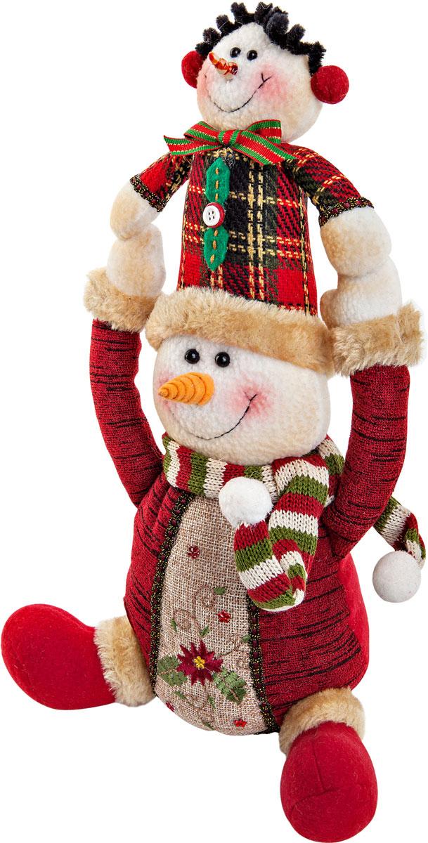 Игрушка новогодняя Mister Christmas  Снеговик , высота 30 см -  Украшения