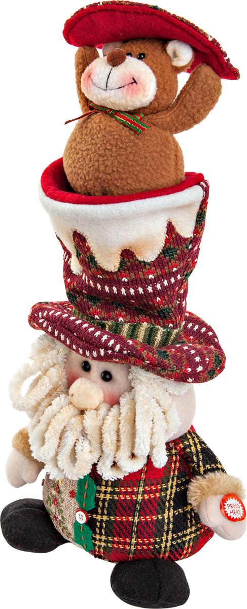 """Новогодняя пляшущая и поющая игрушка Mister  Christmas """"Дед Мороз"""" послужит оригинальным подарком  в преддверии Нового года.   Внешний вид сувенира весьма незатейлив. Изделие  выполнено в виде Деда Мороза. При нажатии игрушка начинает двигаться в  такт песни (PSY - Gangnam Style). Несмотря на столь  ритмичные движения, механизм игрушки прослужит  очень и очень долго. Все материалы, входящие в состав  игрушки, прошли тщательные проверки и отличаются  высочайшим качеством. Так же стоит отметить и то, что  все материалы экологичны и безопасны. Работает от  батареек (входят в комплект).  Собираясь на празднование Нового года, прихватите с  собой новогоднюю музыкальную игрушку Mister  Christmas """"Дед Мороз"""", ведь это подарок,  который говорит сам за себя!   Высота игрушки: 38 см."""