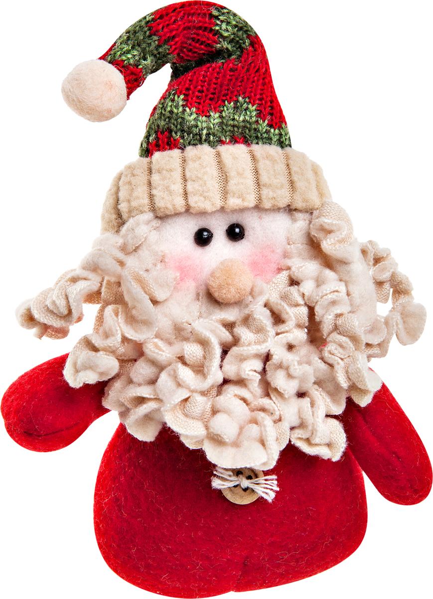 """Игрушка новогодняя Mister Christmas """"Дед Мороз"""" - прекрасное украшение для вашего дома.  Изготовлена из комбинированных текстильных материалов, она ярко смотрится и приятна на  ощупь. Такая игрушка одинаково хорошо смотрится на елке, под елкой возле подарков, на  полочке, столе или другом видном месте вашего дома или офиса. Это прекрасный подарок  коллегам, друзьям, близким, а также детям. Сувенир изготовлен из экологически чистых  материалов. А нарядная подарочная упаковка позволит вам  не беспокоиться о дополнительном оформлении подарка."""