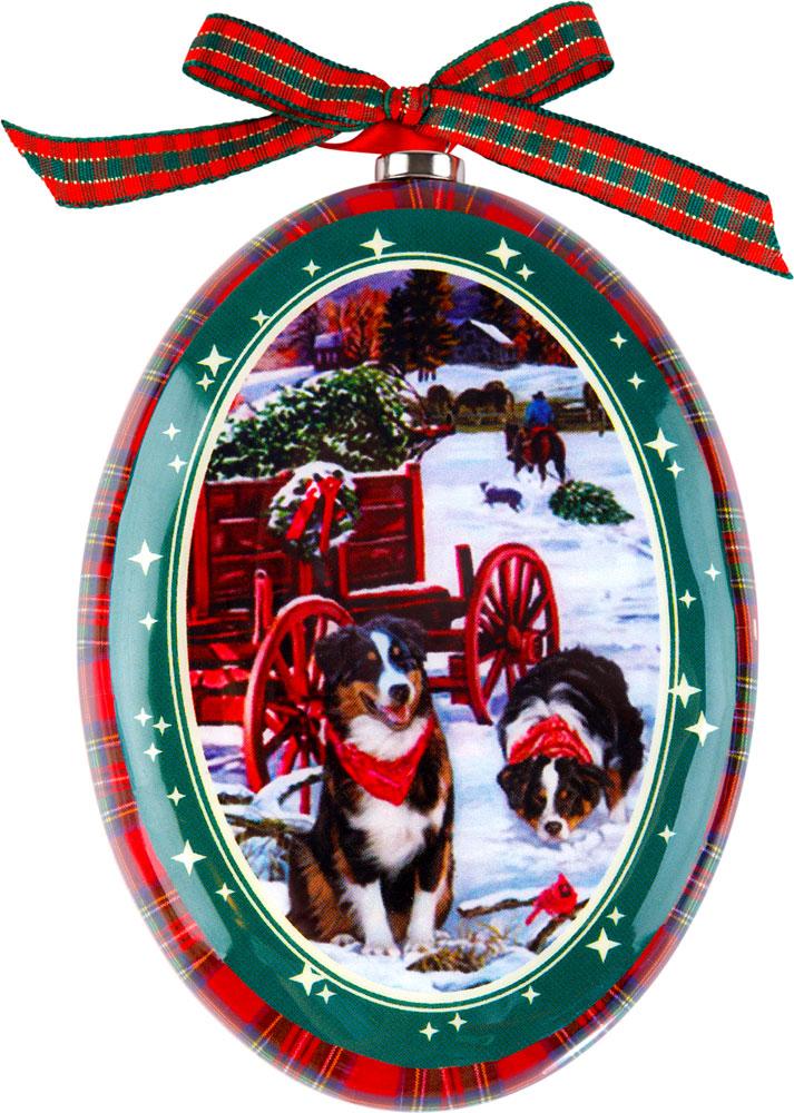 Украшение новогоднее подвесное Mister Christmas Австралийская овчарка, высота 11 смPM-DISK-3Подвесное украшение Mister Christmas выполнено в виде диска папье-маше с изображением символа года 2018, изготовлено вручную из бумаги и покрыто несколькими слоями лака. Такой диск очень легкий, но в то же время удивительно прочный. На создание одной такой игрушки уходит несколько дней. И в результате получается настоящее произведение искусства!Изделие оснащено ленточкой для подвешивания.Такое украшение станет превосходным подарком к Новому году, а также дополнит коллекцию оригинальных новогодних елочных игрушек.