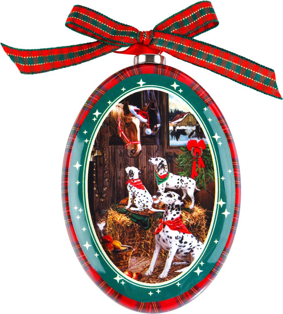 Украшение новогоднее подвесное Mister Christmas Далматин, высота 11 смPM-DISK-14Подвесное украшение Mister Christmas выполнено в виде диска папье-маше с изображением символа года 2018, изготовлено вручную из бумаги и покрыто несколькими слоями лака. Такой диск очень легкий, но в то же время удивительно прочный. На создание одной такой игрушки уходит несколько дней. И в результате получается настоящее произведение искусства!Изделие оснащено ленточкой для подвешивания.Такое украшение станет превосходным подарком к Новому году, а также дополнит коллекцию оригинальных новогодних елочных игрушек.