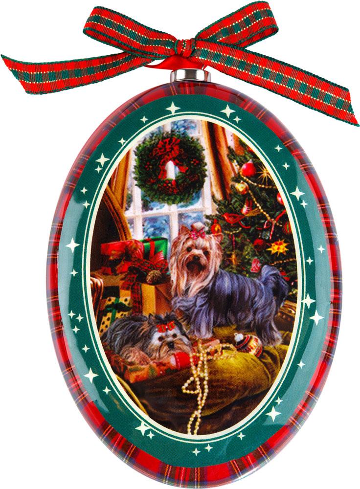 Украшение подвесное Mister Christmas Йоркширский терьер, высота 11 смPM-DISK-16