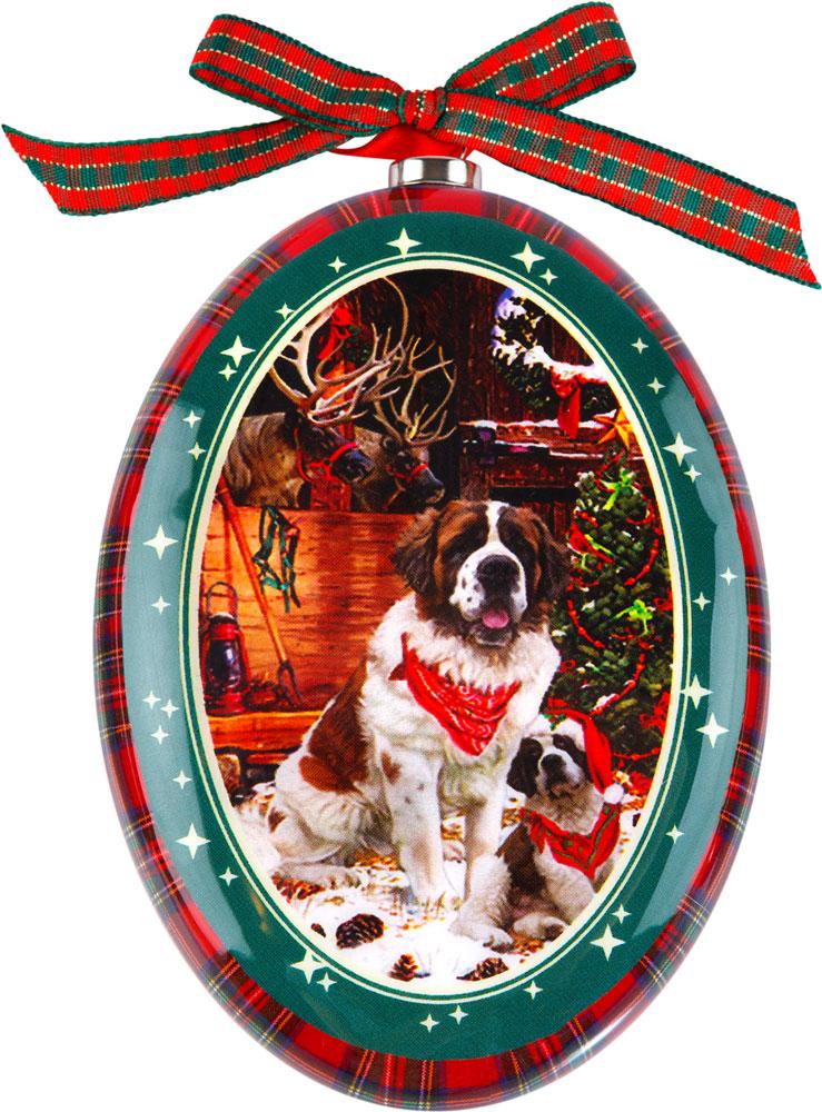 Украшение новогоднее подвесное Mister Christmas Сенбернар, высота 11 смPM-DISK-29Подвесное украшение Mister Christmas выполнено в виде диска папье-маше с изображением символа года 2018, изготовлено вручную из бумаги и покрыто несколькими слоями лака. Такой диск очень легкий, но в то же время удивительно прочный. На создание одной такой игрушки уходит несколько дней. И в результате получается настоящее произведение искусства!Изделие оснащено ленточкой для подвешивания.Такое украшение станет превосходным подарком к Новому году, а также дополнит коллекцию оригинальных новогодних елочных игрушек.