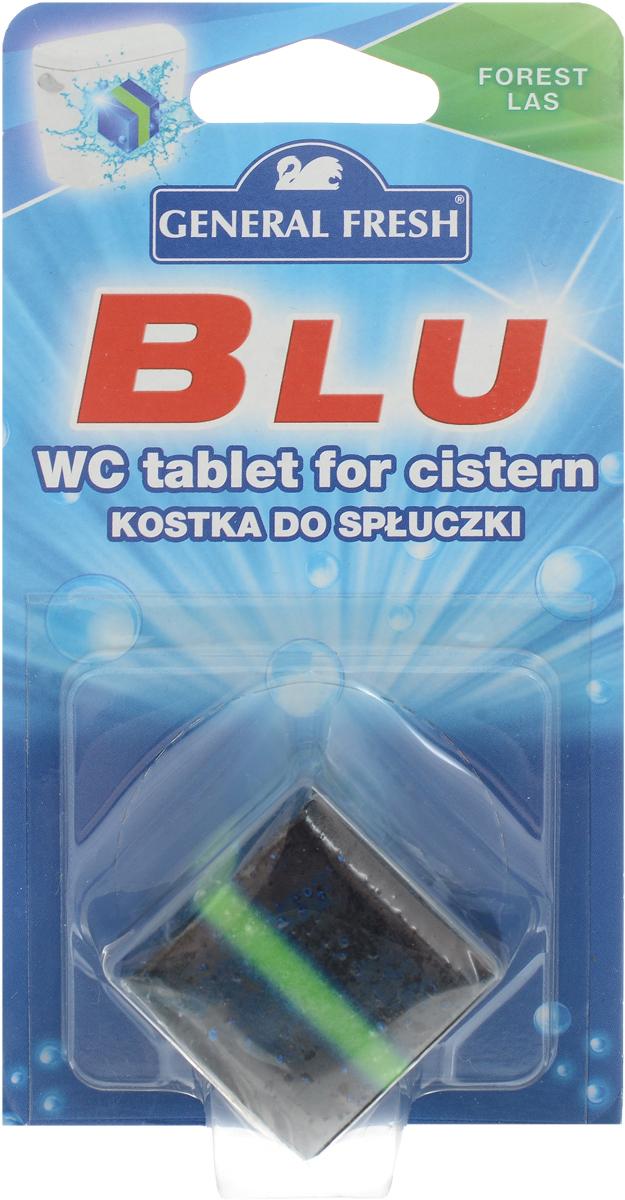 Очиститель-освежитель для смывного бачка General Fresh Blu. Forest lus, квадрат, 1 шт х 50 г545012Без особых хлопот обеспечит гигиеническую чистоту, и свежесть вашего туалета в течение длительного времени.Компоненты, входящие в состав средства, обеспечивают тройное действие:1. Очищает поверхность унитаза, предотвращая образование известкового налета.2. Уничтожает бактерии даже в труднодоступных местах.3. Создает обильную пену и стойкий свежий аромат при каждом сливе воды. Товар сертифицирован.Как выбрать качественную бытовую химию, безопасную для природы и людей. Статья OZON Гид