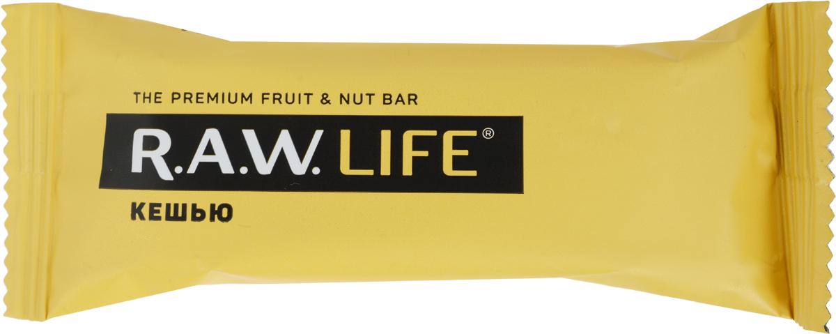 RAWLife Кешью батончик орехово-фруктовый, 47 г pikki клюква миндаль батончик орехово фруктовый 35 г