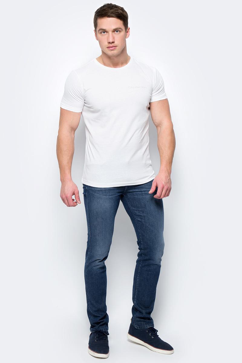 Футболка мужская Calvin Klein Jeans, цвет: белый. J30J306441_1120. Размер S (44/46) футболка женская calvin klein jeans цвет белый j20j206120 1120 размер s 42 44