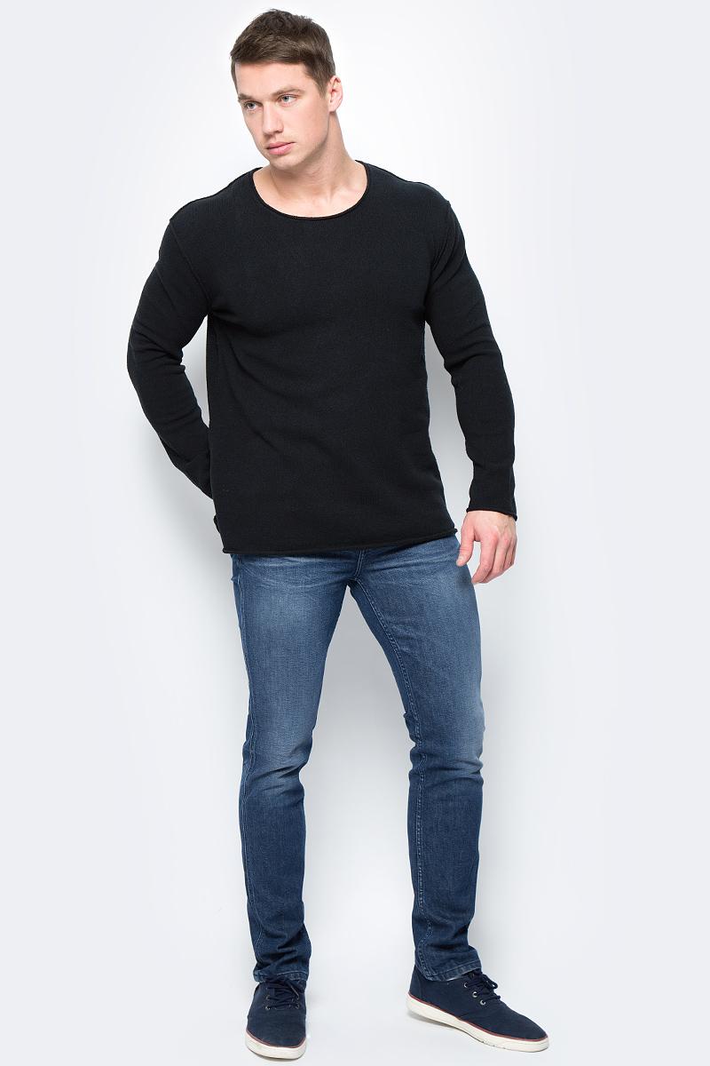 Джемпер мужской Calvin Klein Jeans, цвет: черный. J30J306425_0990. Размер S (44/46) джемпер мужской calvin klein jeans цвет черный j30j306946 0990 размер xxl 52 54