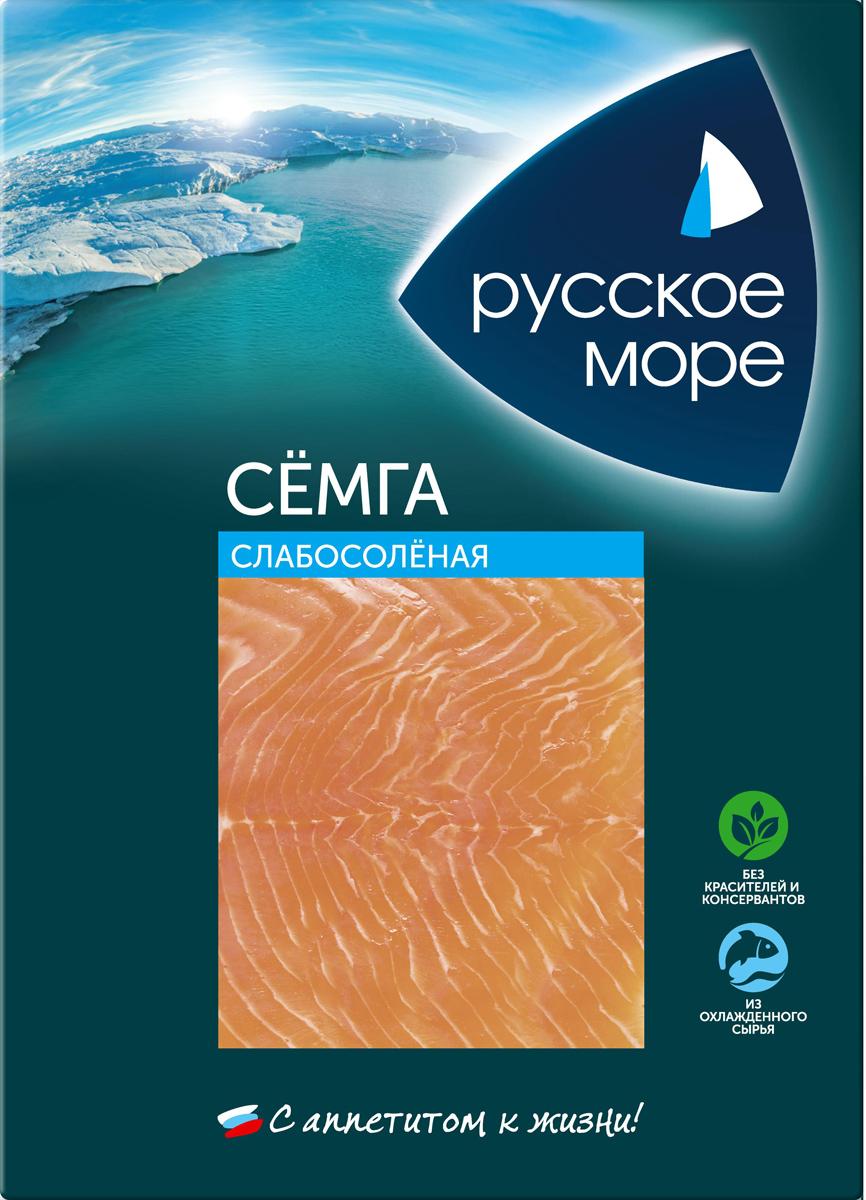Русское Море Семга слабосоленая, ломтики, 120 гМС0-015901Лосось - это, прежде всего, источник витаминов A, B, D, фосфора, железа, йода, калия. Белок рыбы содержит все незаменимые аминокислоты, но усваивается гораздо быстрее и легче. А красная рыба отличается большим количеством жирных аминокислот Омега-3, которые в немалой степени способствуют понижению холестерина в крови, укрепляют сосуды, нервную систему, улучшают состояние кожи.