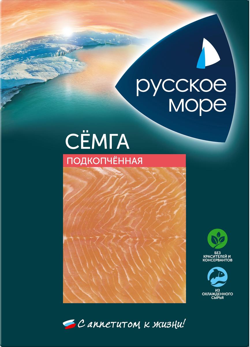 Русское Море Семга подкопченная, ломтики, 120 г