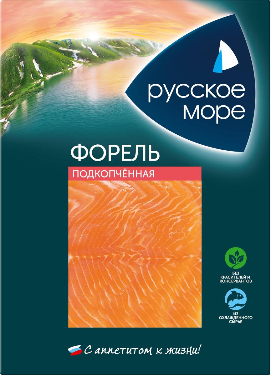 Русское Море Форель подкопченная, ломтики, 120 г