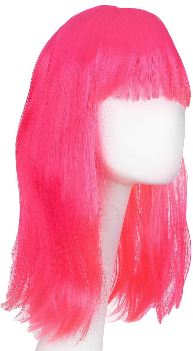 Rio Парик карнавальный цвет розовый 5425 -  Парики