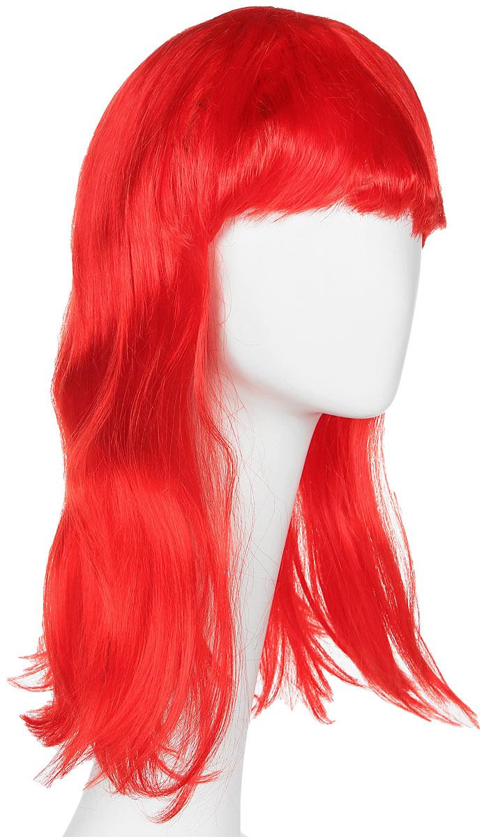 Rio Парик карнавальный цвет красный 5425 -  Парики