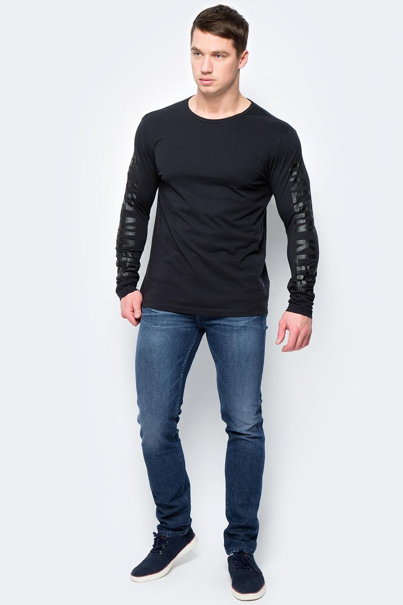 Лонгслив мужской Calvin Klein Jeans, цвет: черный. J30J306448_0990. Размер S (44/46) джемпер мужской calvin klein jeans цвет черный j30j306946 0990 размер xxl 52 54