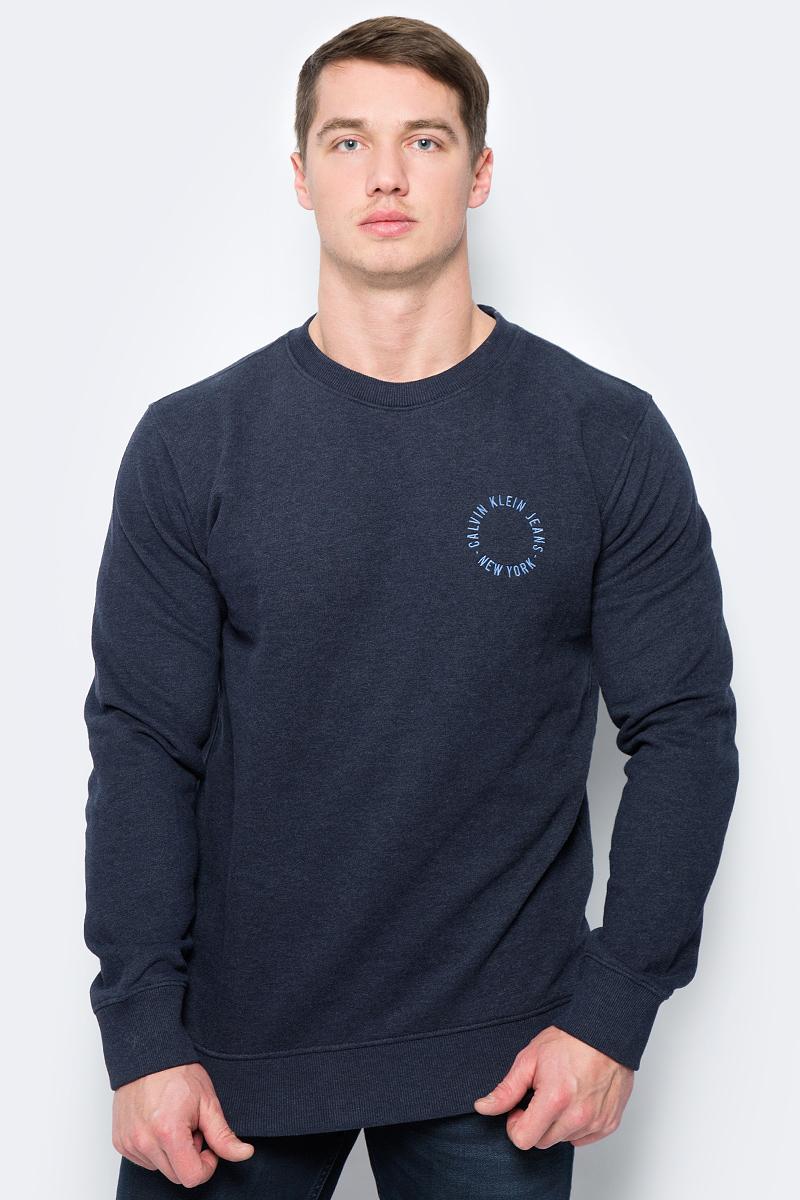 Свитшот мужской Calvin Klein Jeans, цвет: синий. J30J306621_4020. Размер S (44/46) рубашка мужская calvin klein jeans цвет темно синий j30j301011 размер s 44 46