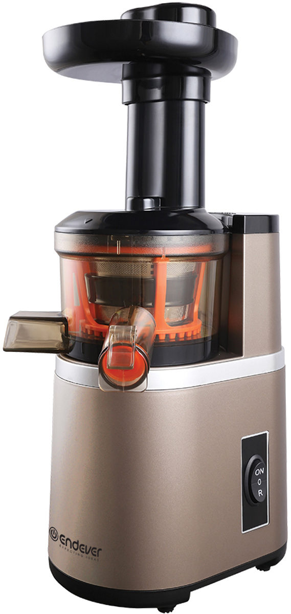 Endever Sigma 92 соковыжималкаSigma 92Шнековая соковыжималка Endever Sigma 92 является отличным решением получить натуральный чистейший сок из практически любого плода. Под давлением вала даже зелень отдаст свой сок!Сок не окисляется и не теряет своих питательных свойств благодаря технологии холодного отжима, при которой сок не нагревается, а это в свою очередь дает возможность хранить его еще некоторое время. Несомненными преимуществами Endever Sigma 92 являются:- система прямой подачи сока, - отсутствие вибрации при работе, - защита от включения при неправильной сборке, - максимальная производительность.