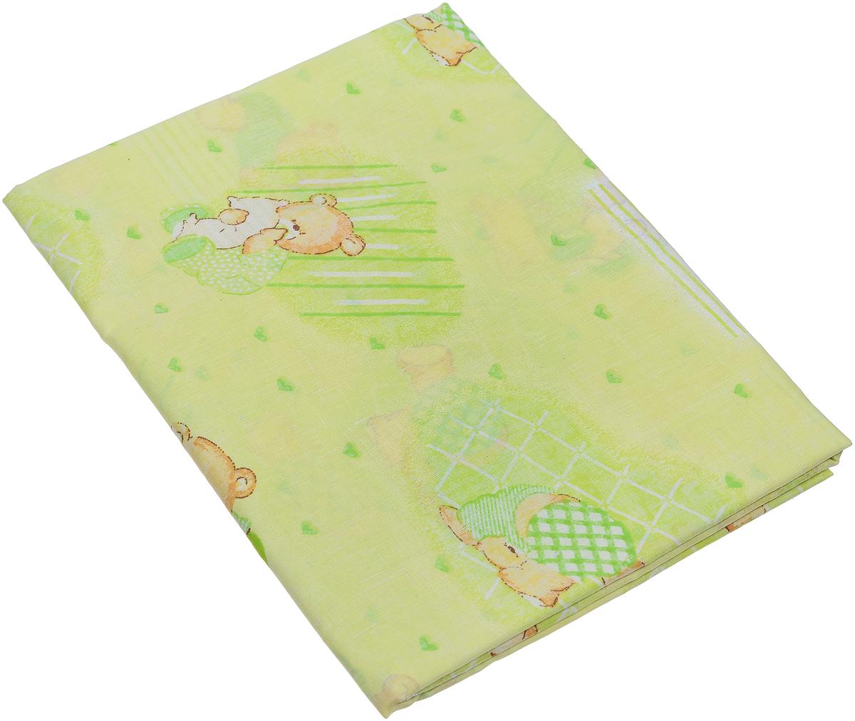 Фея Пододеяльник детский Мишки и мороженное цвет салатовый 110 х 140 см
