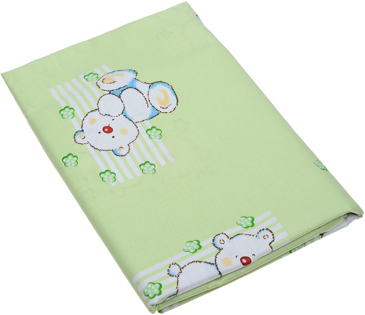 Фея Пододеяльник детский Мишки и мороженное цвет светло-салатовый 110 х 140 см