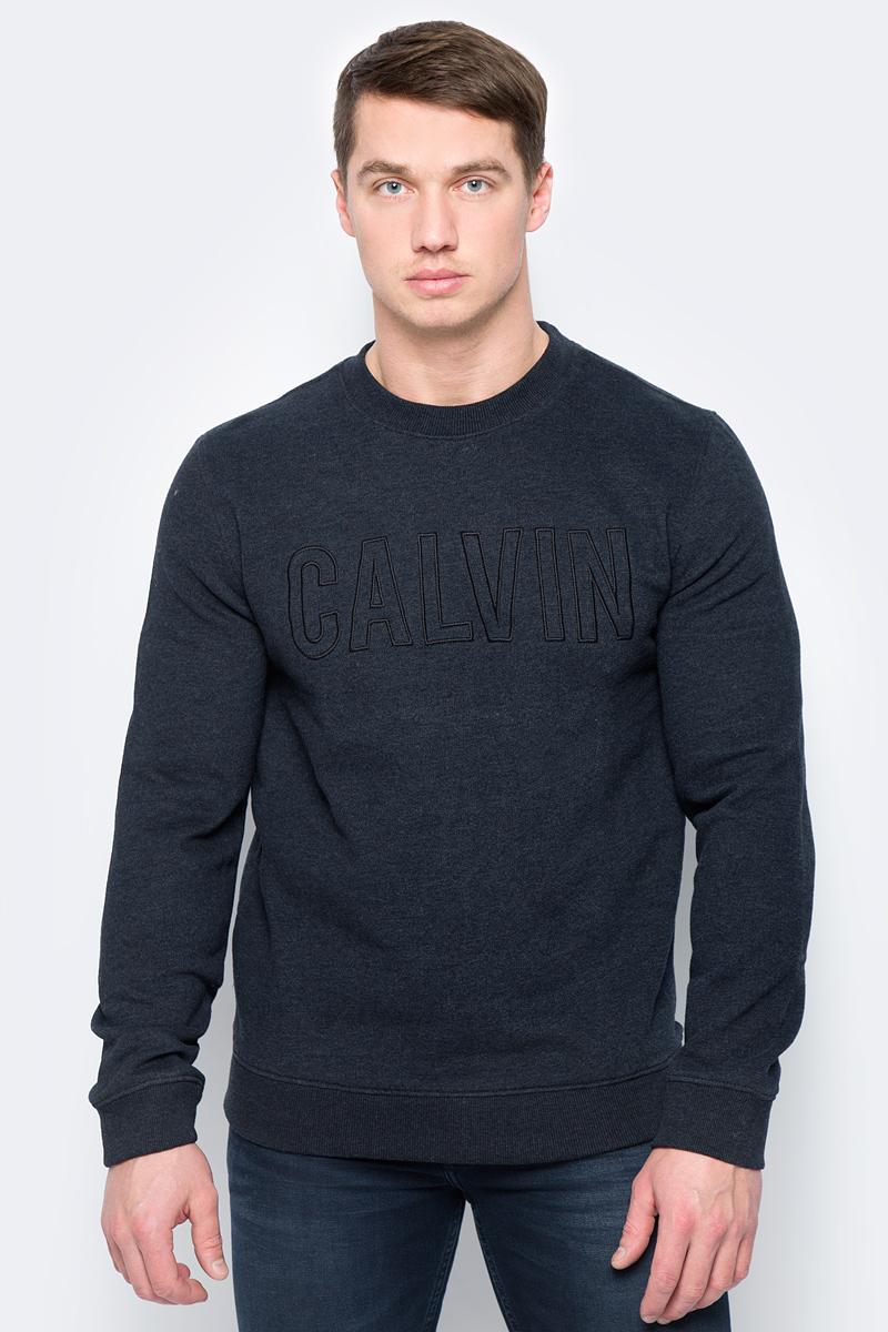 Купить Свитшот мужской Calvin Klein Jeans, цвет: черный. J30J306421_0990. Размер L (48/50)