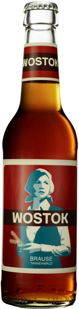 Wostok безалкогольный газированный напиток вкус Пихта, 330 мл4260189213011WOSTOK с пихтовым маслом, элеутерококком и нотками кардамона - это старательно доработанная версия советской классики, легендарного напитка Байкал, в составе которого нет места искусственным красителям и консервантам.Лимонад WOSTOK впервые появился в Берлине в 2008 году. Придумал его рекламный фотограф из Голландии, проживший 19 лет в Москве, где он вдохновился советской эстетикой. Первый вкус был создан на основе оригинального рецепта советского напитка Байкал, который был адаптирован под современный вкус и актуальные стандарты качества.