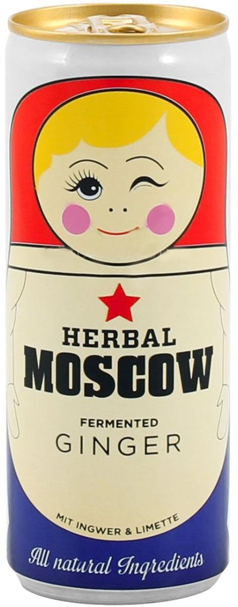Herbal Moscow натуральный безалкогольный газированный напиток имбирный лимонад, 250 мл herbal muscle