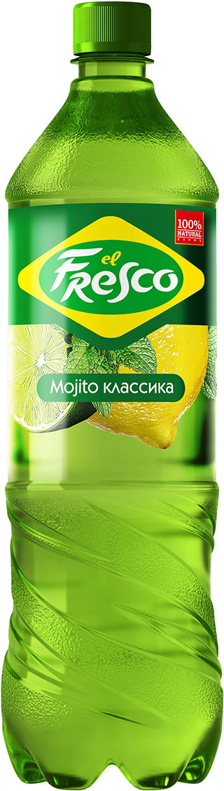 Elfresco Лимонад Мохито Классический, 1,25 л4602441011513Освежающий лимонад El Fresco - это идеальное сочетание сочной мяты, тонизирующего лайма и натурального сока фруктов . В миксах El Fresco тщательно подобраны ингредиенты и создана рецептура, в которой знакомые коктейли открываются новыми гранями и найдено изысканное равновесие полноты вкуса и аромата.