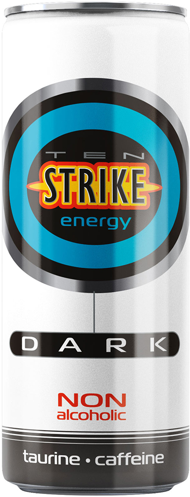 Ten Strike Dark Энергетические напиток со вкусом Малины и Зеленого чая, 250 мл4602441011698Сочетание кофеина и таурина, комплекса витаминов и микроэлементов дают десятикратный заряд энергии, позволяющий легче переносить периоды повышенных физических и умственных нагрузок и улучшают эмоциональное состояние. TenStrike – чистый драйв, искренние чувства!Уважаемые клиенты! Обращаем ваше внимание на то, что упаковка может иметь несколько видов дизайна. Поставка осуществляется в зависимости от наличия на складе.