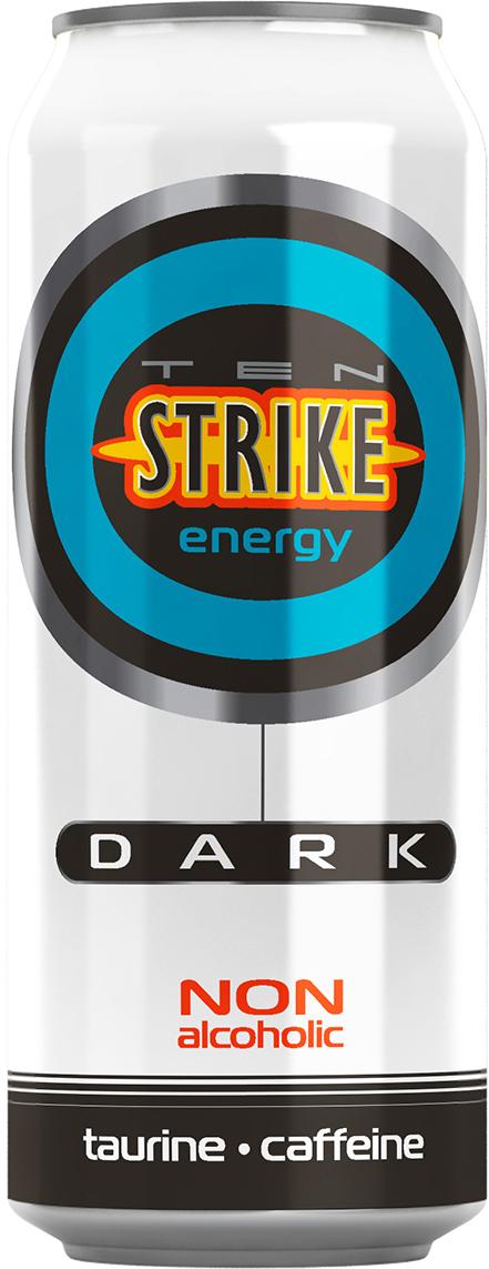 Ten Strike Dark Энергетические напиток со вкусом Малины и Зеленого чая, 450 мл
