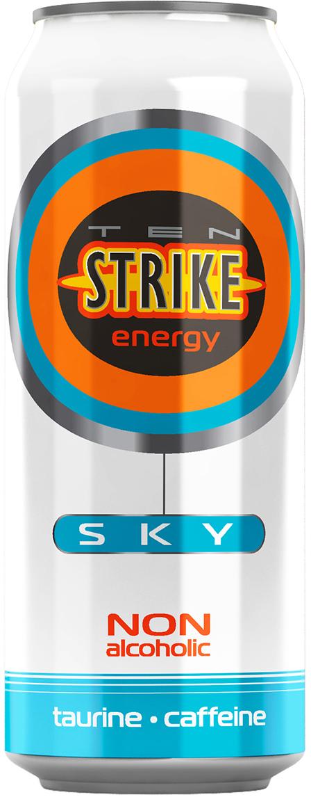 Ten Strike Sky Энергетические напиток со вкусом Маракуйя, 450 мл