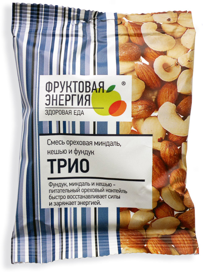 Фрути – Трио смесь ореховая фундук миндаль кешью, 35 г