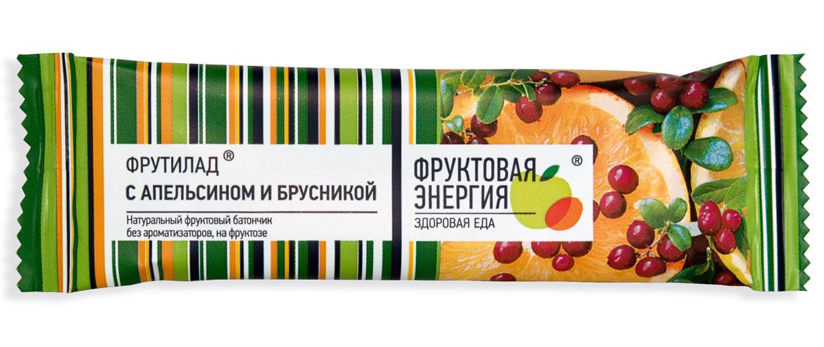 Фрутилад Батончик фруктовый Фрутилад апельсин-брусника, 30 г рационика сахар контроль батончик вкус вишни 50г