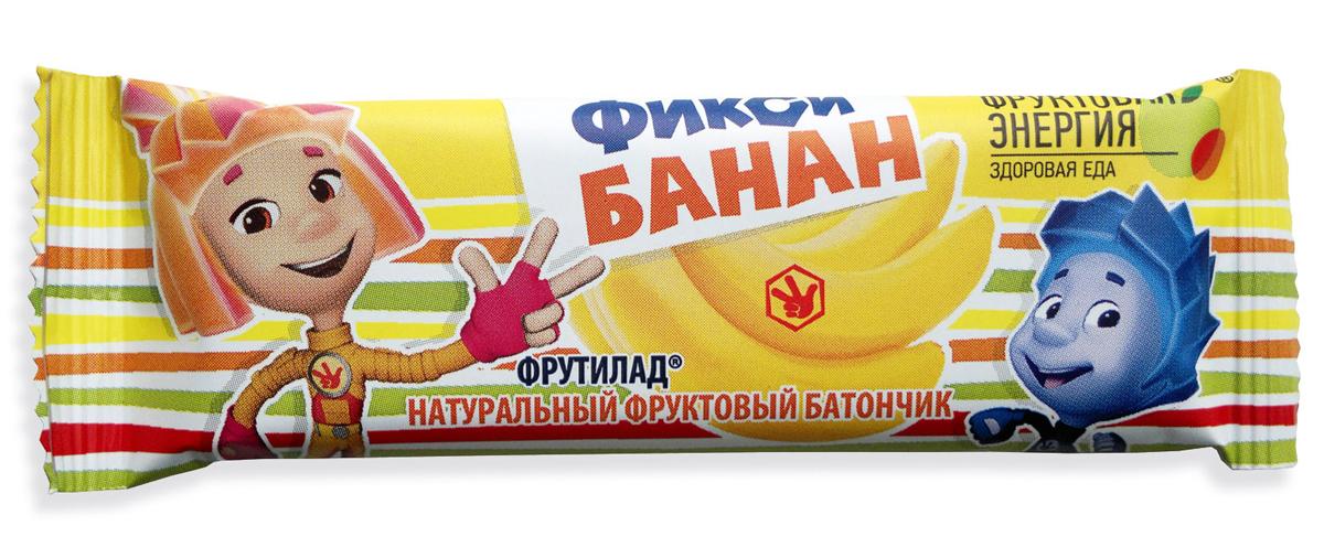 Фрутилад Батончик фруктовый фикси банан, 30 г nutrilon премиум 2 молочная смесь pronutriplus с 6 месяцев 400 г