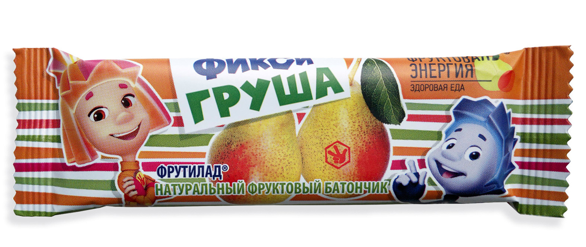 Фрутилад Батончик фруктовый фикси груша, 30 г фрутилад батончик фруктовый фрутилад чернослив в шоколаде 40 г