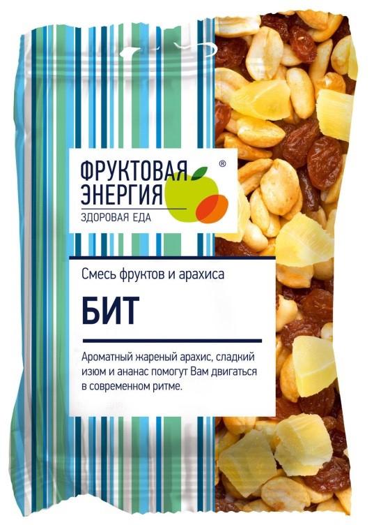 Бит смесь фруктовая жареный арахис сладкий изюм и ананас, 55 г