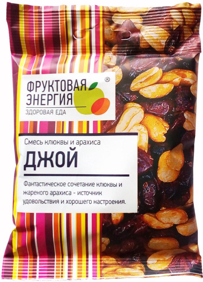 Джой смесь фруктовая цукаты клюквы арахис, 50 г