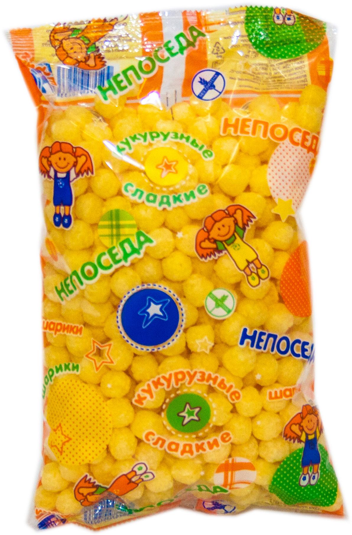 Непоседа шарики кукурузные с сахаром, 70 г Здоровей