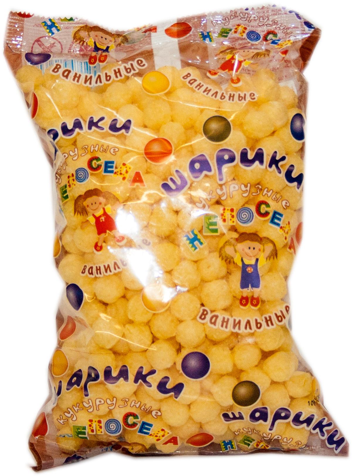 Непоседа шарики кукурузные ванильные с сахаром, 70 г Здоровей